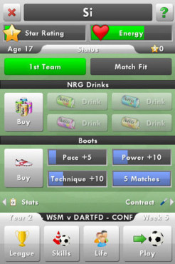 New Star Soccer: Menü © New Star Games