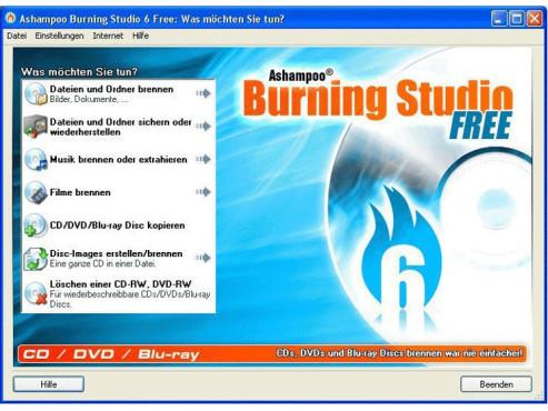 Blu-ray Brennprogramme: Ashampoo Burning Studio 6.6