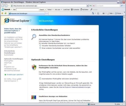 Internet Explorer 7: Browser