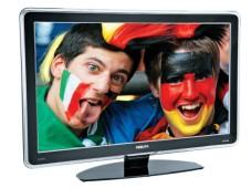 """Philips 42PFL9703: Das """"Ambilight"""" an der Rückseite leuchtet passend zum Fernsehbild"""