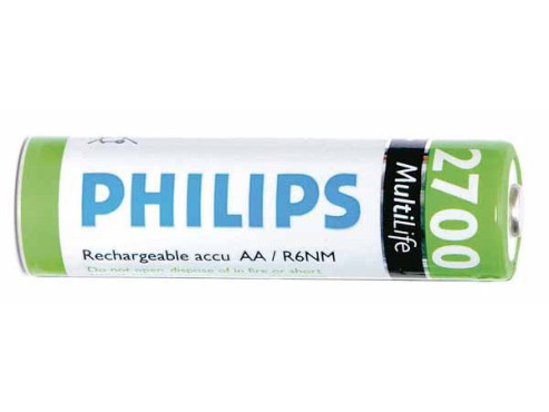 Philips MultiLife Mignon R6NM 2700 mAh (4er-Pack): Mignon-Akku (AA) © Philips