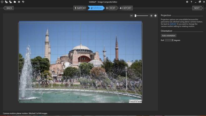 Image Composite Editor: Panoramabilder erstellen ©COMPUTER BILD