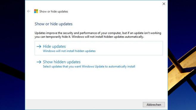 Microsoft Hotfix: Windows-10-Updates ausblenden oder blockieren (Tuning) ©COMPUTER BILD