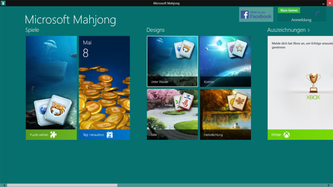 Microsoft Mahjong (App für Windows 10 & 8, Unterhaltung) ©COMPUTER BILD