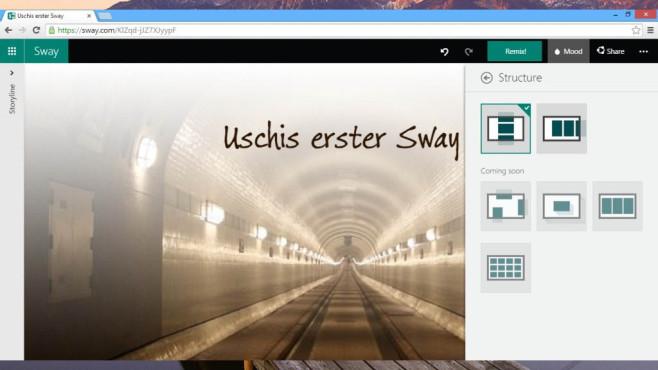 Microsoft Sway (Windows-10-App und Webdienst, Office) ©COMPUTER BILD