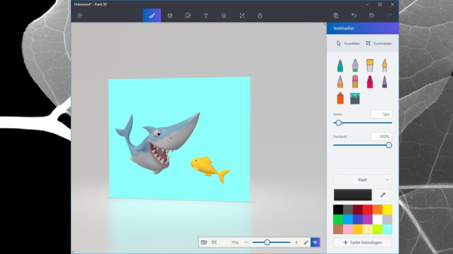 Unterhaltung: Microsoft Paint 3D (Windows-10-App) ©COMPUTER BILD
