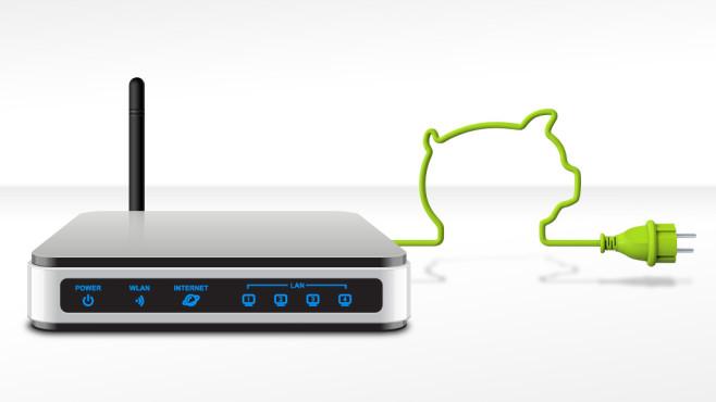 Stromspar-Funktion am Router einstellen ©electriceye - Fotolia.com, final09 - Fotolia.com