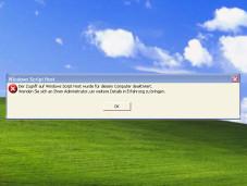 Fehlermeldung: Windows Script Host