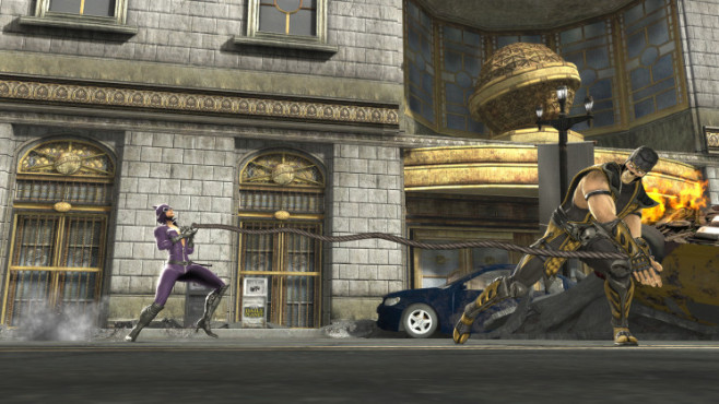 Mortal Kombat vs. DC Universe: Scorpion vs. Catwoman © Warner Bros.