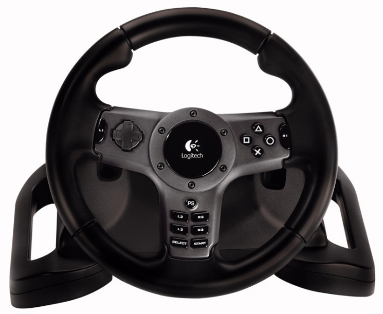 logitech driving force wireless computer bild spiele. Black Bedroom Furniture Sets. Home Design Ideas