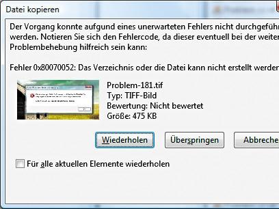 Fehlercode 0x80071ac3