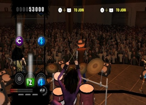 Musikspiel Rock Revolution: Air Drum © Konami