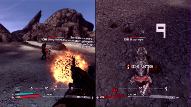 Actionspiel Borderlands: Splitscreen-Kampf