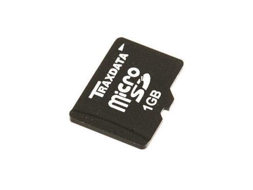 Traxdata microSD 1GB: Speicherkarte ©Traxdata