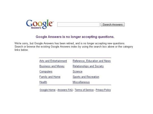 Google Flop: Answers