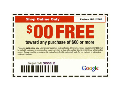 Google Flop: Coupons