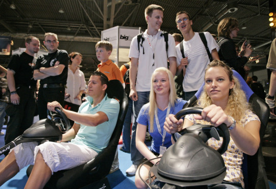 Messe Games Convention: Fahrsimulator