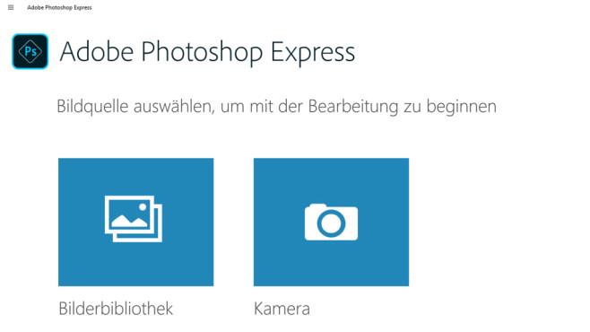 Adobe Photoshop Express (App für Windows 10 & 8) ©COMPUTER BILD