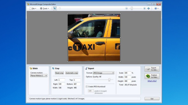 Microsoft Image Composite Editor ©COMPUTER BILD