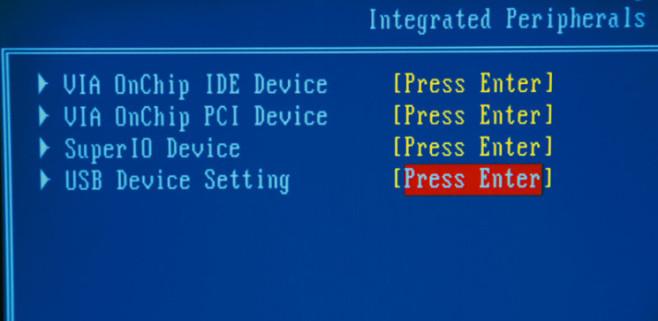 Bios für USB-Start einrichten