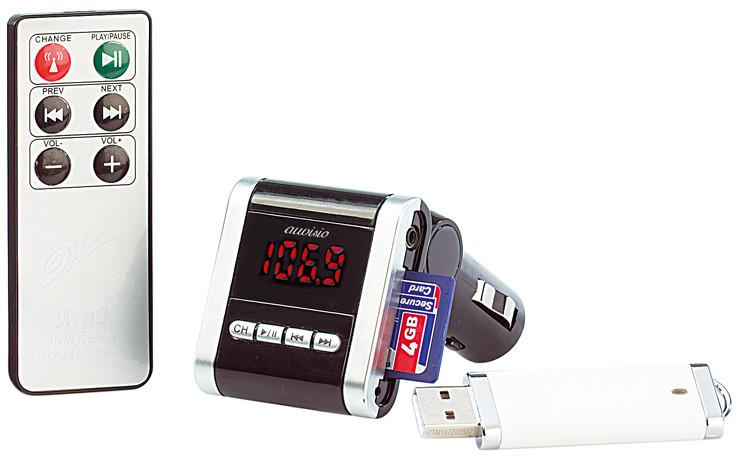 auvisio px 3119 fm transmitter f r speicherkarten und usb. Black Bedroom Furniture Sets. Home Design Ideas