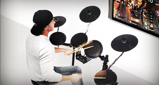 "Game Critics Awards: Rock Band 2 Ion ""Drum Rocker"" Set"
