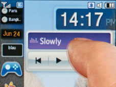 Handy: Samsung SGH-F480 – Widgets