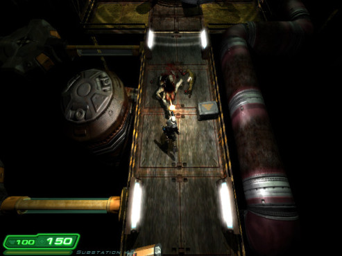 Doom-3-Mod Z-Hunter: Brücke © id Software