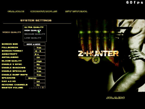 Doom-3-Mod Z-Hunter: Systemeinstellungen © id Software