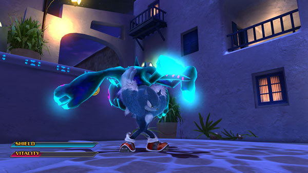 Actionspiel Sonic Unleashed: Wurf