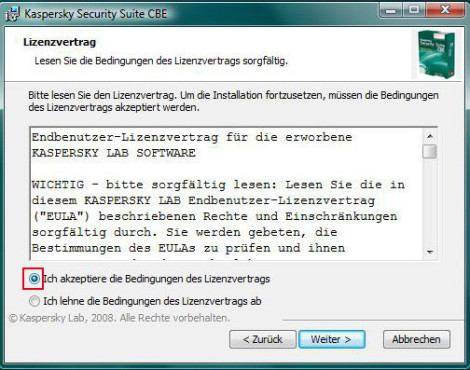 So installieren Sie die Kaspersky Security Suite CBE