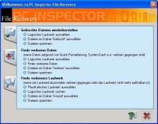 PC Inspector File Recovery - Gratis-Datenrettungsprogramm