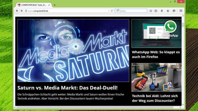 Firefox: Beliebter und anpassungsf�higer Browser ©COMPUTER BILD