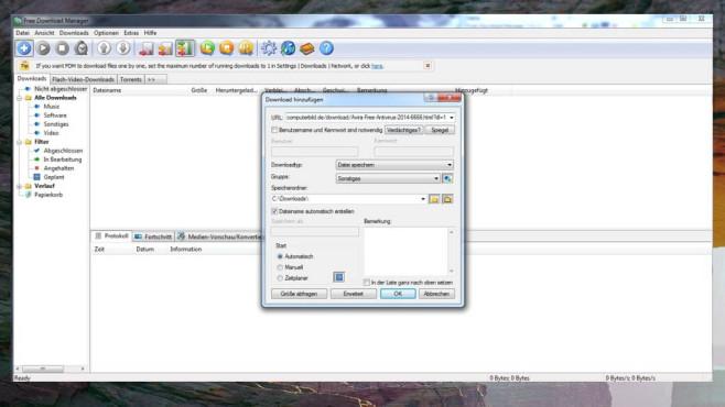 Free Download Manager: Schneller herunterladen
