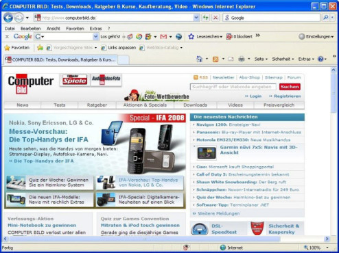 Die 50 beliebtesten Downloads im August Platz. 46: Internet Explorer 8 (Windows XP)