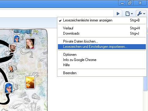 Google Chrome: Lesezeichen und Einstellungen importieren