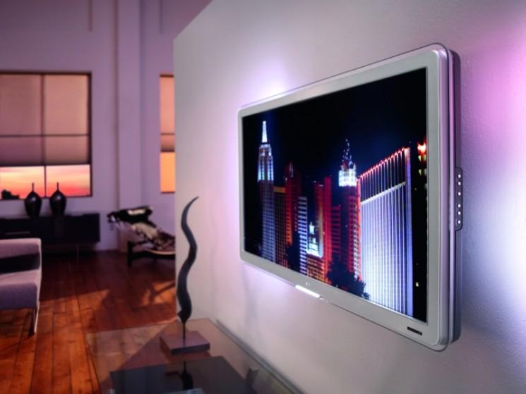 philips lcd fernseher mit verstecktem dvb c audio video foto bild. Black Bedroom Furniture Sets. Home Design Ideas