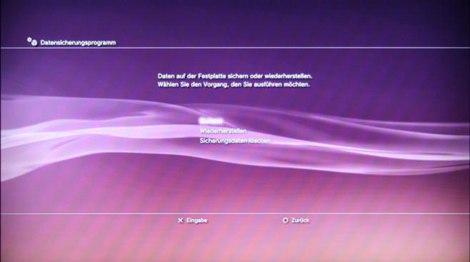Ratgeber Playstation 3: Wiederherstellen