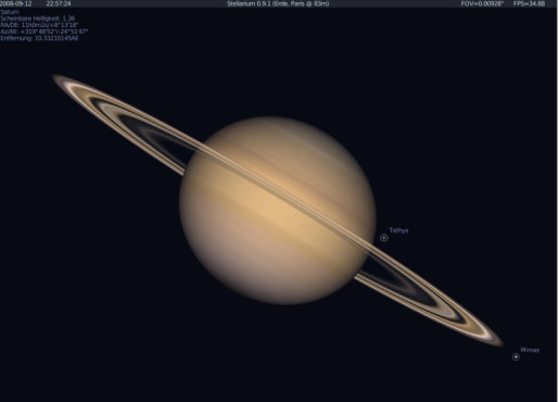 Software – Stellarium: Saturn