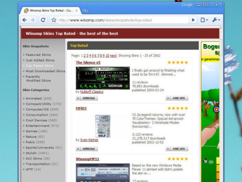Winamp-Homepage Skins