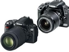 Canon EOS 450D und Nikon D60 ©Canon und Nikola