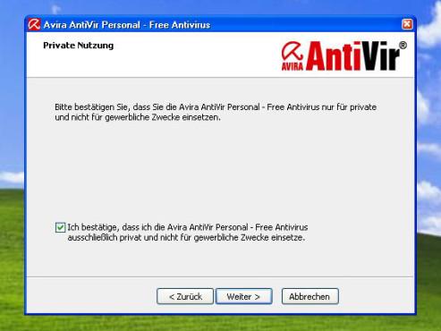 Avira AntiVir Personal: Installation
