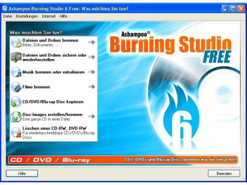 Platz 1: Ashampoo Burning Studio 6 Free