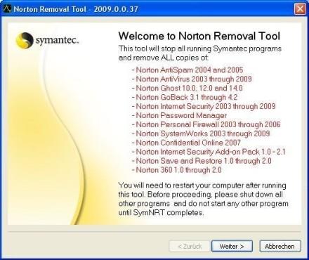 Platz 33: Norton Removal Tool