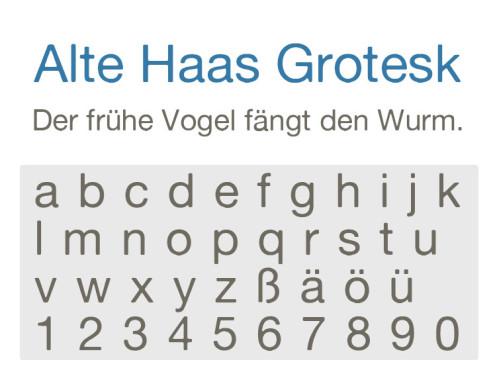 Alte Haas Grotesk ©COMPUTER BILD