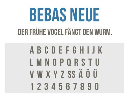 Bebas Neue ©COMPUTER BILD