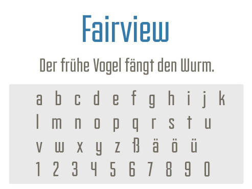 Font: Fairview © COMPUTER BILD