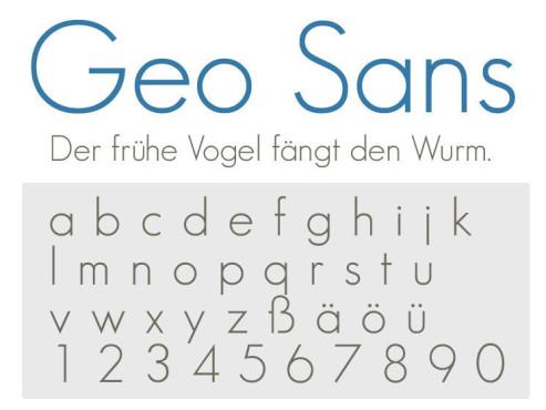 Geo Sans ©COMPUTER BILD