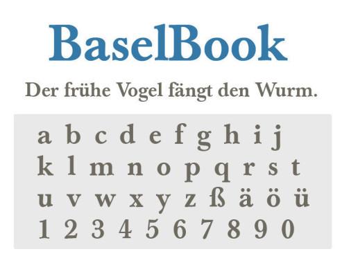 Gratis-Schriften zum Herunterladen BaselBook ©COMPUTER BILD