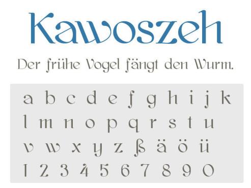 Gratis-Schriften zum Herunterladen Kawoszeh ©COMPUTER BILD
